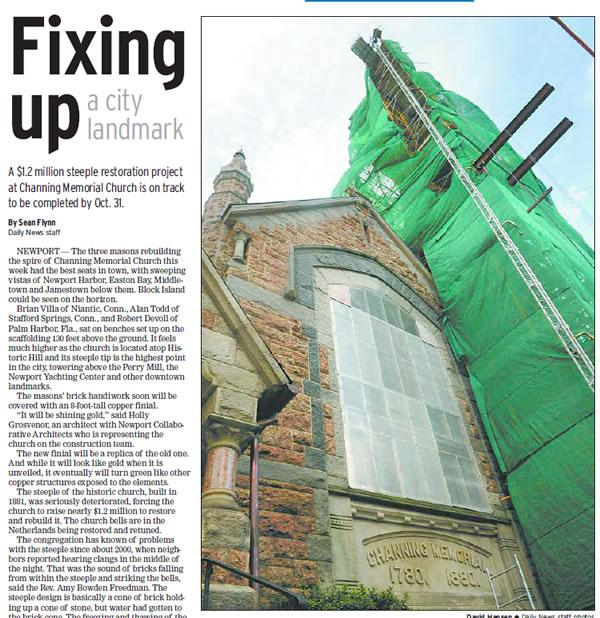 Channing Memorial Church Restoration